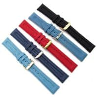 Apollo Tough Ribbed Textile Watch Strap 18mm 20mm