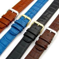 CONDOR  'Louisiana' Leather Watch Strap Alligator Grain 16mm 18mm 20mm 169R