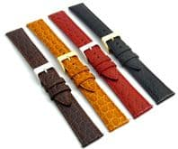 Croc Grain Leather Watch Strap  16mm - 20mm  D033