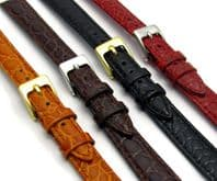 Croc Grain Leather Watch Strap  8mm - 14mm  D033