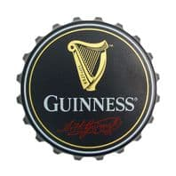 Guinness Bottle Top Shaped Bottle Opener / Fridge Magnet Screw & Crown Tops 2148