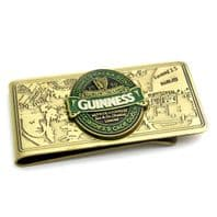 Guinness Ireland Brass Money Clip Official Merchandise 5361