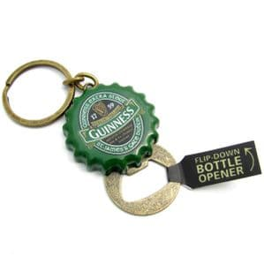 Guinness Ireland Collection Green Crown Cap Bottle Opener Key Ring 5351