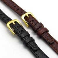 Ladies Open Ended Leather Watch Strap for Vintage Watch Choice of Colours D003