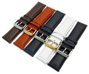 MODENA Men's Padded Stitched Leather Watch Strap 18mm - 30mm C064