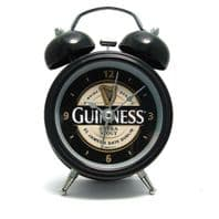 Official Guinness Double Bell Alarm Clock Free Battery included 02023