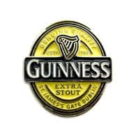 Official Guinness Enamel Lapel Pin Badge - Label Design 5061