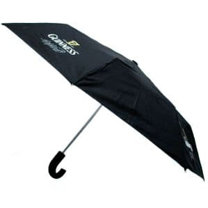 Official Guinness Men's Gents Folding Umbrella Self-Opening 2066