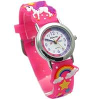 Ravel Kids Time Teacher Watch Unicorns & Rainbows Silicone Strap 1513.79