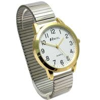 Ravel Men's Easy-Read Quartz Watch with Expanding Bracelet 2-tone #47 R0232.23.1