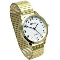 Ravel Men's Super-Clear Quartz Watch with Expanding Bracelet gold #37 R0230.02.1