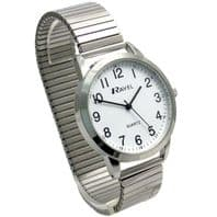 Ravel Men's Super-Clear Quartz Watch with Expanding Bracelet sil #43 R0232.21.1