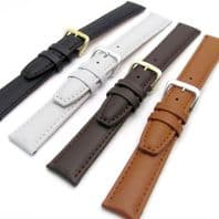 Smooth Padded Replacement Leather Watch Strap 16mm 18mm 20mm C009