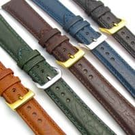 Verona Padded Leather Watch Strap Band, Super Quality, 16mm - 24mm D011