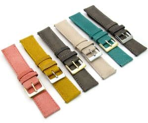 Vintage Style Padded Leather Watch Strap 18mm 20mm 22mm 6 Colours C089