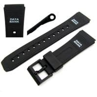 Watch strap 22mm to fit Casio Data Bank 204F1D1 DBC60