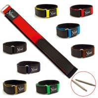 X-treme Sports Watch Band Men's Hook & Loop 20mm 8 Colours