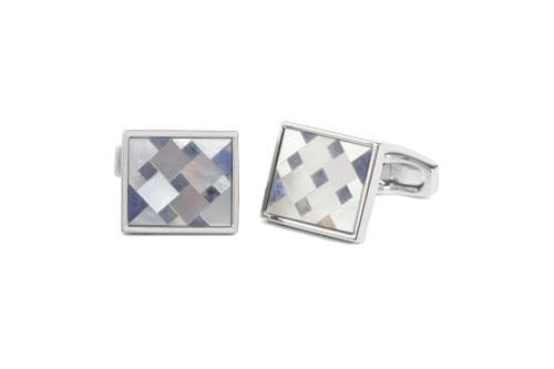 Simon Carter Cubist Mother of Pearl and Sodalite Cufflink