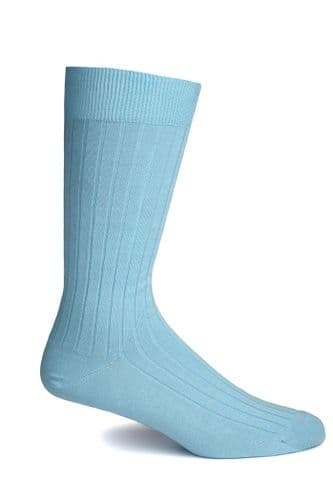Simon Carter Made in Italy Cotton Socks Pale Blue