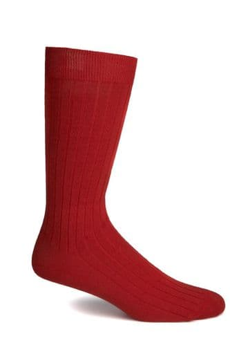 Simon Carter Made in Italy Cotton Socks Red