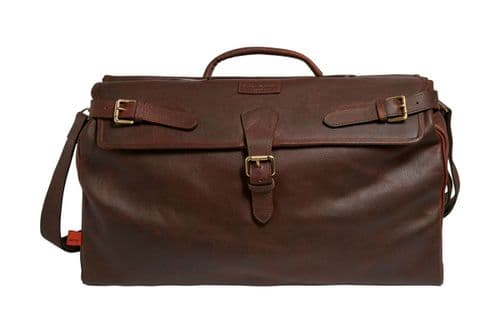 Simon Carter Norfolk Antique Tan Leather Weekend Holdall