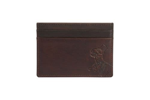 Simon Carter Oiled Leather Tan T-Rex Credit Card Holder