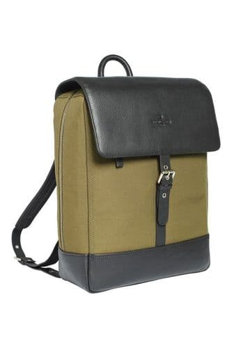 Simon Carter Ramsgate Water Resistant Canvas and Leather Rucksack