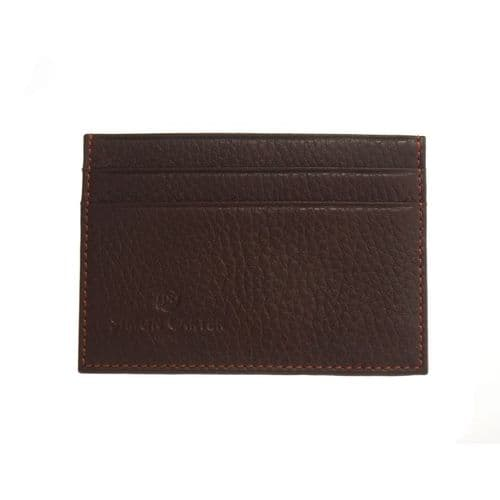 Simon Carter Soft Brown Leather Credit Card Holder