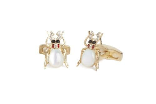 Simon Carter Victoriana Mother of Pearl Beetle Cufflink