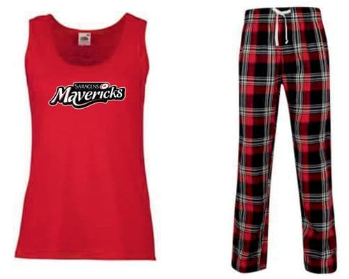 Ladies Vest Pyjama Set Senior