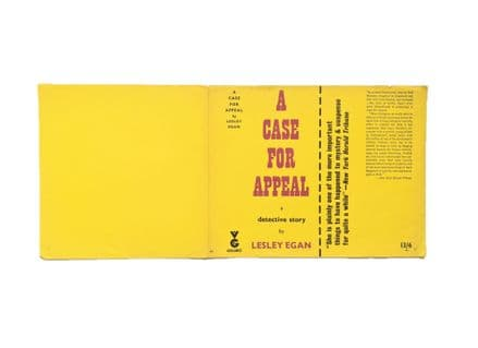 A Case For Appeal by Lesley Egan Dust Jacket Only First Edition Victor Gollancz 1961