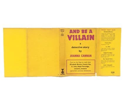 And Be A Villain by Joanna Cannan Dust Jacket Only First Edition Victor Gollancz 1958