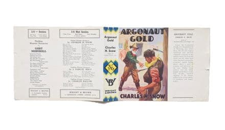 Argonaut Gold by Charles H. Snow Dust Jacket Only Early Reprint Wright & Brown 1937