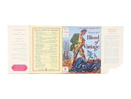Blood of Vintage by Thomas Kyd Dust Jacket Only First Edition Hammond 1947