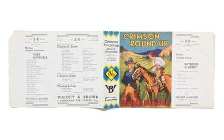 Crimson Round-Up by Alvin B. Ricemond Dust Jacket Only First Edition Wright & Brown 1937