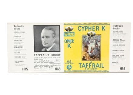 Cypher K by Taffrail Dust Jacket Only Early Reprint Hodder & Stoughton c.1933
