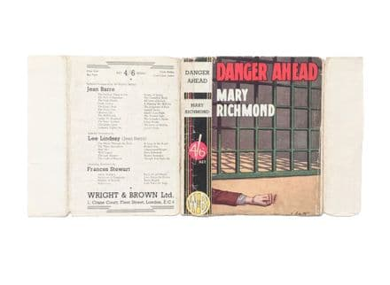 Danger Ahead by Mary Richmond Dust Jacket Only Early Reprint Wright & Brown c.1930