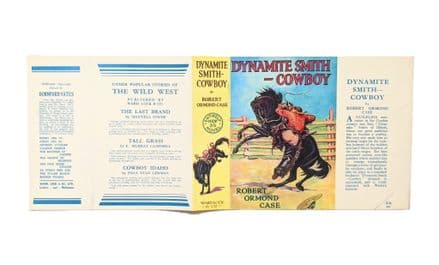 Dynamite Smith - Cowboy by Robert Ormond Case Dust Jacket Only  First Edition Ward, Lock & Co. 1931