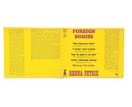 Foreign Bodies by Rhona Petrie Dust Jacket Only First Edition Victor Gollancz 1967