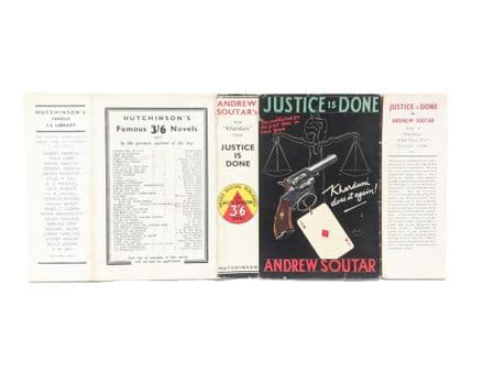 Justice Is Done by Andrew Soutar Dust Jacket Only First Edition Hutchinson 1936
