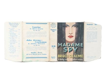 Madame Spy by Bruce Graeme Dust Jacket Only Early Reprint Quality Press c.1935