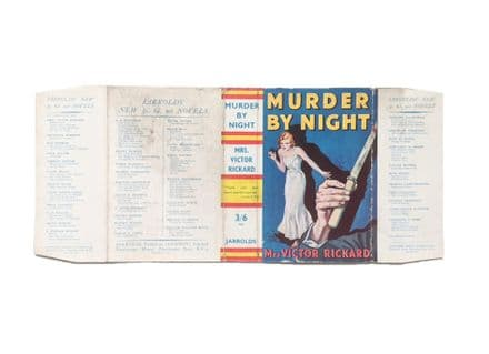 Murder by Night by Mrs. Victor Rickard Dust Jacket Only First EditionJarrolds 1936