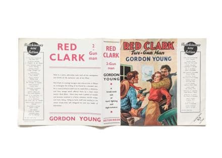 Red Clark Two-Gun Man by Gordon Young Dust Jacket Only First Edition Hutchinson 1939