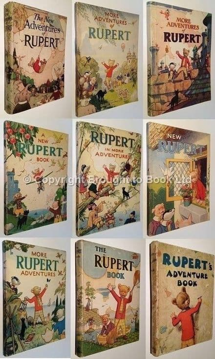 Rupert Bear Annuals Complete Set 1936 to 2013