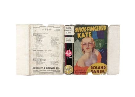 Slick-Fingered Kate by Roland Daniel Dust Jacket Only Reprint Wright & Brown c.1936