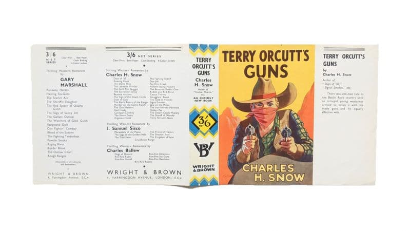 Terry Orcutt's Guns by Charles H. Snow Dust Jacket Only First Edition Wright & Brown 1937
