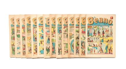 The Beano Comic 1964 Complete Year Published by D.C Thomson No. 1120 -1171