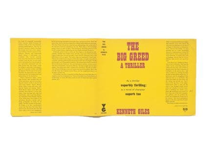 The Big Greed by Kenneth Giles Dust Jacket Only First Edition Variant Proof Victor Gollancz 1966