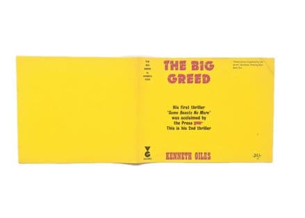 The Big Greed by Kenneth Giles Dust Jacket Only First Edition Victor Gollancz 1966