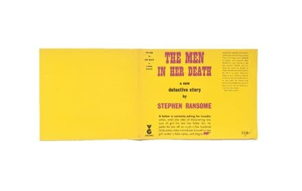 The Men In Her Death by Stephen Ransome Dust Jacket Only First Edition Victor Gollancz 1957